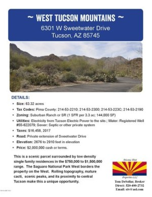 6301 W Sweetwater Drive Tucson, Az 85745